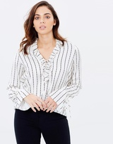 Shona Joy Bermuda Lace Up Blouse