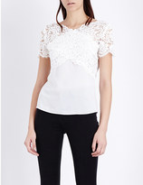 The Kooples Lace panel V-neck top