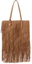 Elizabeth and James Scott Fringed Leather Tote Bag, Camel