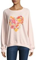 Wildfox Couture Blooming Heart Sweatshirt