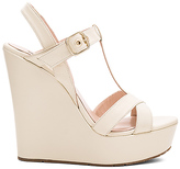 Pura Lopez High Wedge in Cream