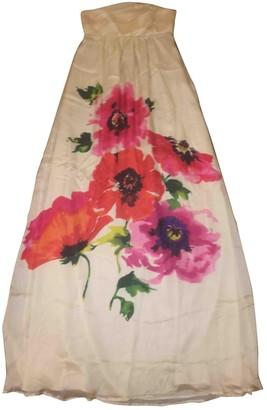 MANGO Multicolour Silk Dress for Women
