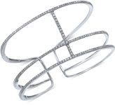 Effy Geo by Diamond Stacked Cuff Bracelet (1-1/2 ct. t.w.) in 14k White Gold