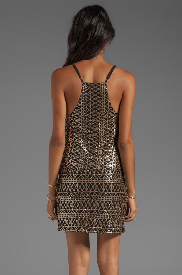 Dolce Vita Bibi Tribal Sequins Dress