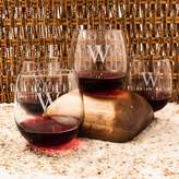 Cathy's Concepts Cathys concepts Monogram 4-pc. Stemless Red Wine Glass Set