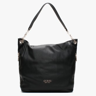 GUESS G Black Pebbled Hobo Bag