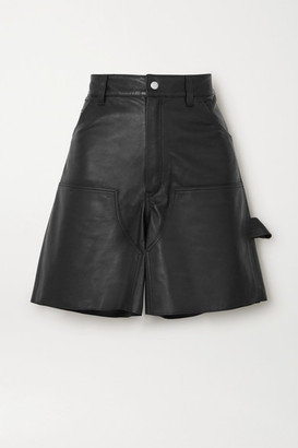 Unravel Project Leather Shorts - Black
