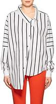 Ji Oh Women's Striped Cotton Asymmetric Shirt