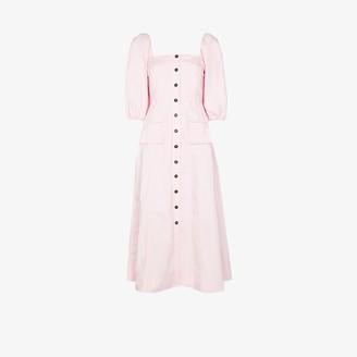 Ganni Flared button-up dress