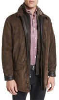 Peter Millar Steamboat Leather Jacket with Fur Lining