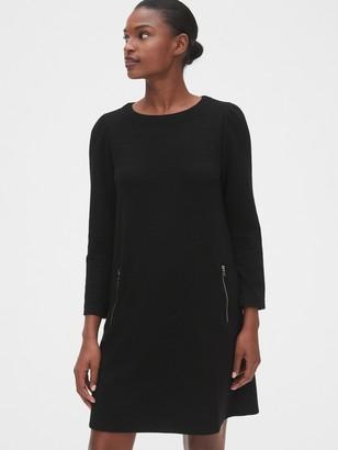 Gap Zip Pocket Puff-Sleeve Dress
