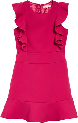 BCBG Girls Crepe Flounce Dress