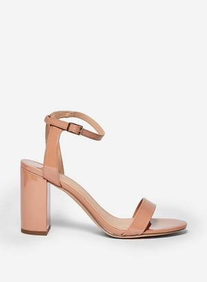 Dorothy Perkins Womens Wide Fit Nude 'Shimmer' Strappy Heeled Sandals