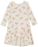 Cotton On Joss Long Sleeve Dress (Little Kids) (Blush Marle/Rainbows) Girl's Dress