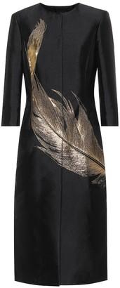 Oscar de la Renta Silk-blend coat