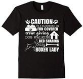 Men's Boxer Shirt I'm A Crazy Boxer Lady Dog Lover T-Shirt 2XL