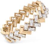 Michael Kors Gold-Tone Chevron Baguette Statement Bracelet