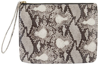 Sandler H-Lilly Snake Print Clutch Two