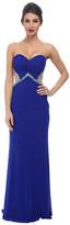 Faviana Mesh Sweetheart Ruched Bust Dress 7512