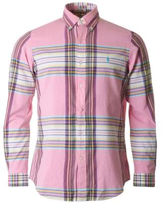 Polo Ralph Lauren Brushed Cotton Checked Shirt Colour: PINK, Size: SMA