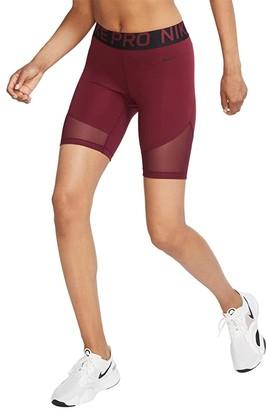 Nike Pro Shorts 8 (Dark Beetroot/Black) Women's Shorts