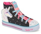 Skechers Girl's Twinkle Toes Shuffles Prancing Pretty Light-Up Sneaker