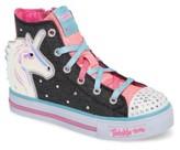 Skechers Girl's Twinkle Toes Shuffles Prancing Pretty Light-Up Sneaker