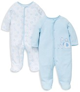 Little Me Infant Boys' Safari Pals Footie 2 Pack - Baby
