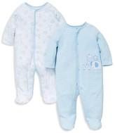 Little Me Infant Boys' Safari Pals Footie 2 Pack - Sizes Newborn-9 Months