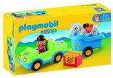 Playmobil 6958 1.2.3 Car with Horse Trailer Playset