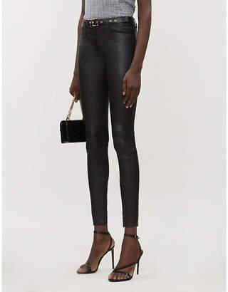 Jitrois Wynn skinny high-rise leather trousers