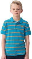 Leo&Lily Big Boy Casual Sports Yarn Dyed Stripe Polo Shirt Orange Strip