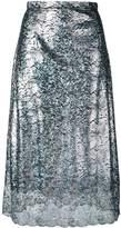 Christopher Kane lace foil midi skirt