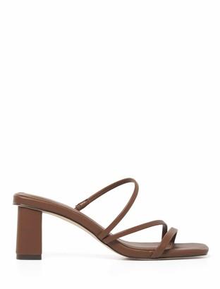 Forever New Millie Multi-Strap Block Mule Heels - Chocolate - 37