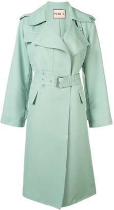 Plan C Belted Trench Coat