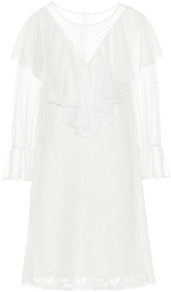 See by Chloe Cotton-blend lace minidress
