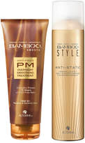 Alterna Bamboo Style Dry Finishing Spray and PM Overnight Smoothing Treatment Duo (Worth 45)