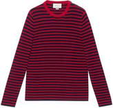 Gucci Striped cotton crew neck sweater