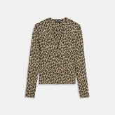 Theory Leopard Knit Cardigan