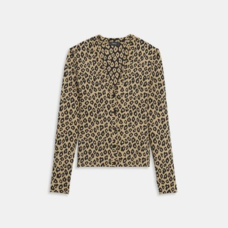 Theory Cardigan in Leopard Knit