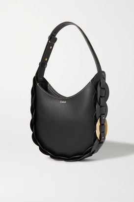 Chloé Darryl Braided Smooth And Textured-leather Shoulder Bag