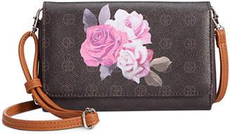 Giani Bernini Signature Rose Crossbody Wallet