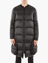 Rick Owens Black Quilted Down Coat