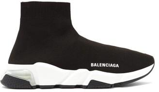 Balenciaga Speed 2.0 Bubble-heel Trainers - Black White