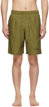 Givenchy Khaki Logo Swim Shorts