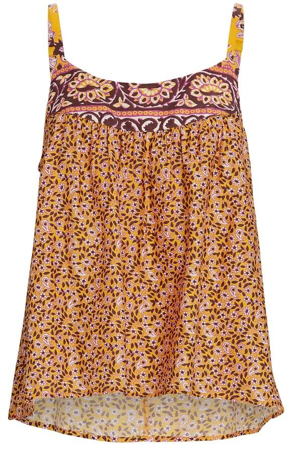 XiRENA Kenley Floral Cotton-Silk Tank Top