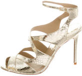Michael Kors Metallic Snakeskin Sandals