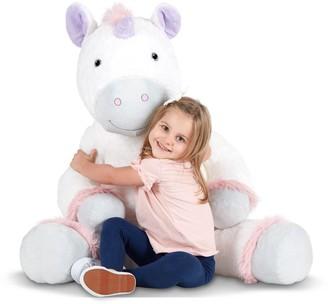 Melissa & Doug Gentle Jumbos Unicorn Giant Stuffed Plush Animal