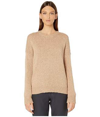 Eileen Fisher Airspun Wool Mohair Round Neck Top