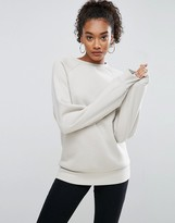 Asos PREMIUM Sweatshirt in Boxy Oversized Fit with Longer Sleeves